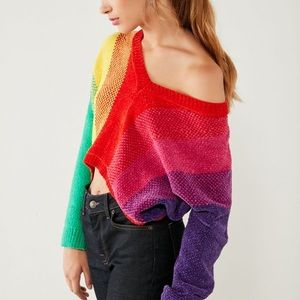 Urban Outfitters Sweaters - UO Silence + Noise Rainbow Chenille Sweater